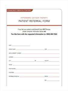 Free 7+ Medical Referral Forms In Pdf | Ms Word inside Referral Certificate Template
