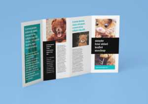 Free Accordion 4-Fold Brochure Leaflet Mockup Psd Templates inside Brochure 4 Fold Template