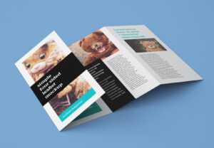 Free Accordion 4-Fold Brochure / Leaflet Mockup Psd with Brochure 4 Fold Template