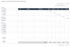 Free Account Reconciliation Templates | Smartsheet with Credit Card Statement Template Excel