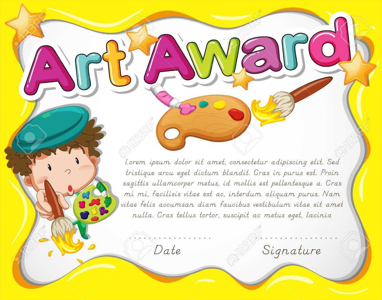Free Art Certificate Templates - Tomope.zaribanks.co Pertaining To Free Art Certificate Templates