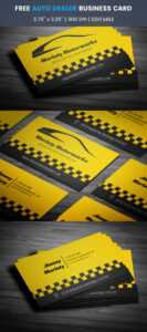 Free Automotive Business Card Template On Student Show in Automotive Business Card Templates