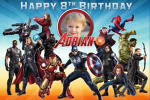 Free Avengers Birthday Tarpaulin | Dioskouri Designs pertaining to Avengers Birthday Card Template