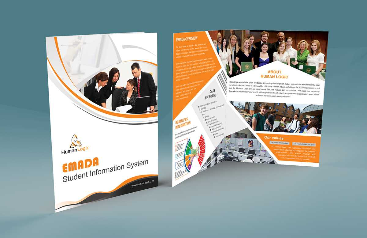 Free Bi Fold Brochure Psd On Behance In 2 Fold Brochure Template Psd