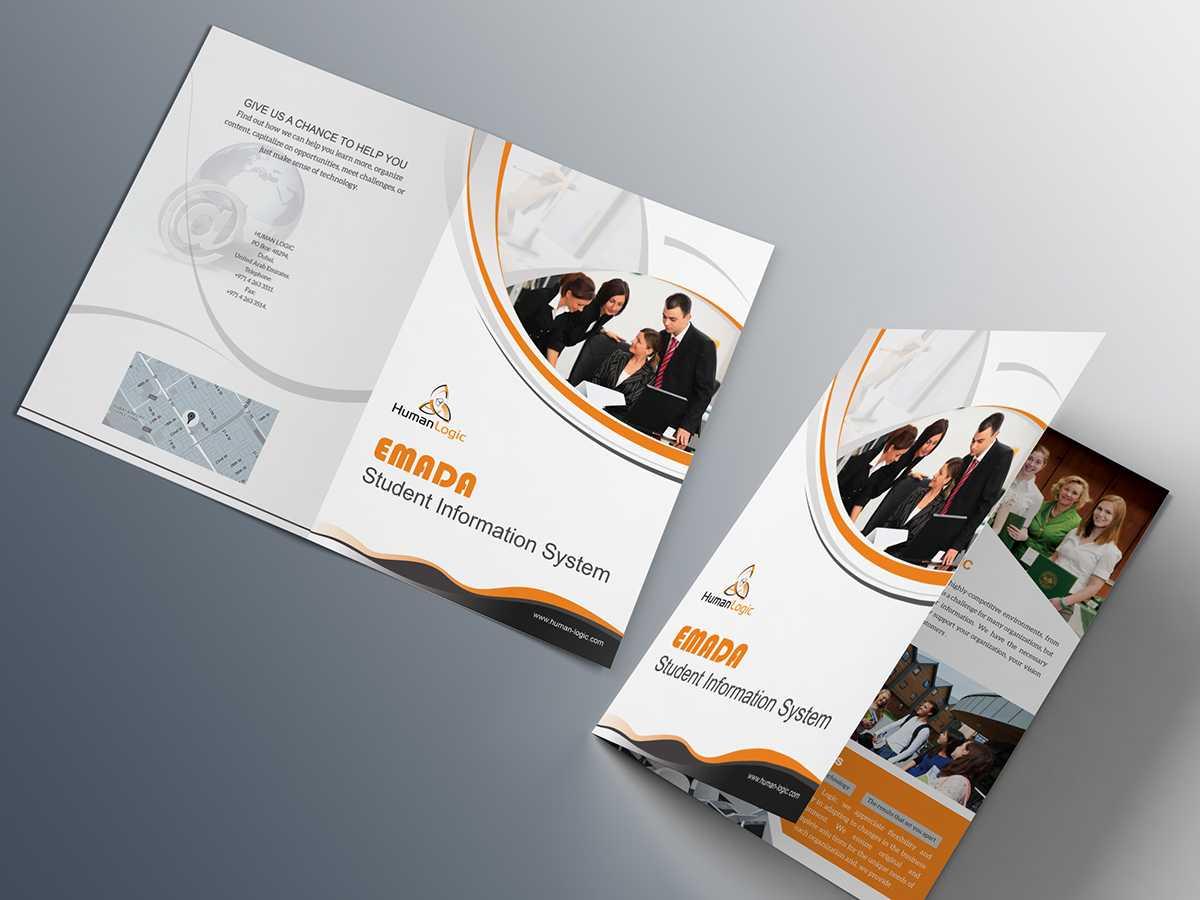 Free Bi Fold Brochure Psd On Behance Intended For 2 Fold Brochure Template Psd