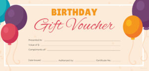 Free Birthday Gift Certificate Templates | Certificate regarding Track And Field Certificate Templates Free