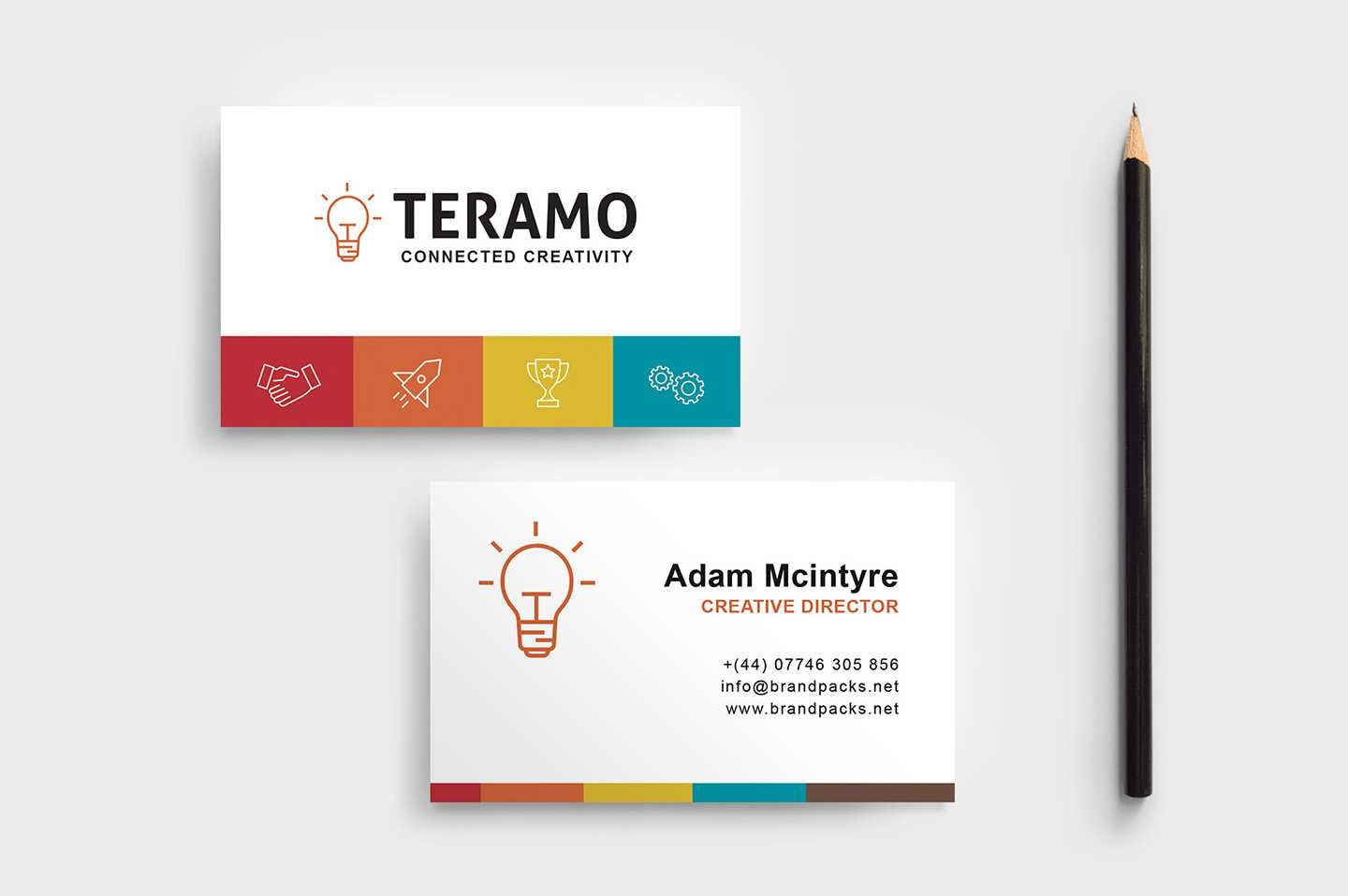 Free Business Card Template In Psd, Ai & Vector – Brandpacks With Free Business Card Templates In Psd Format
