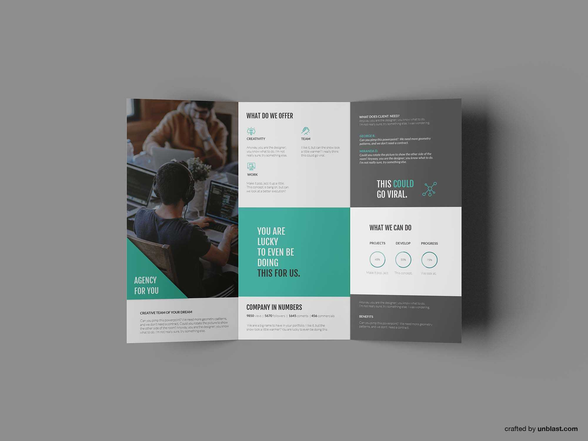Free Business Trifold Brochure Template (Ai) Within Tri Fold Brochure Template Illustrator Free