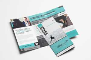 Free Business Trifold Brochure Template In Psd & Vector with 3 Fold Brochure Template Free