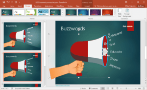 Free Buzzword Powerpoint Template pertaining to Change Template In Powerpoint