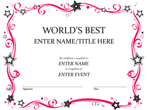 Free Certificate Template, Download Free Clip Art, Free Clip intended for Art Certificate Template Free