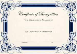 Free Certificate Templates For Word throughout Anniversary Certificate Template Free