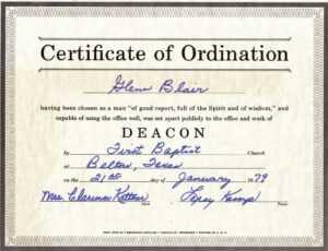 Free Certification: Free Ordination Certificate throughout Ordination Certificate Template