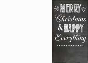 Free Chalkboard Christmas Card Templates | Oldsaltfarm throughout Free Christmas Card Templates For Photoshop