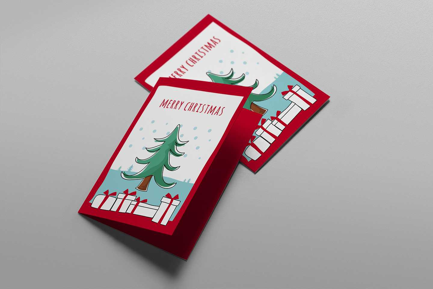 Free Christmas Card Templates For Photoshop & Illustrator With Regard To Free Christmas Card Templates For Photoshop