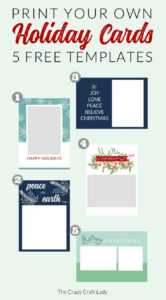 Free Christmas Card Templates – The Crazy Craft Lady within Free Templates For Cards Print