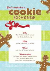 Free Christmas Exchange Cliparts, Download Free Clip Art Regarding Cookie Exchange Recipe Card Template