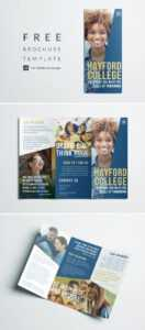Free College Brochure Template | Simple Tri-Fold Design pertaining to Adobe Indesign Tri Fold Brochure Template