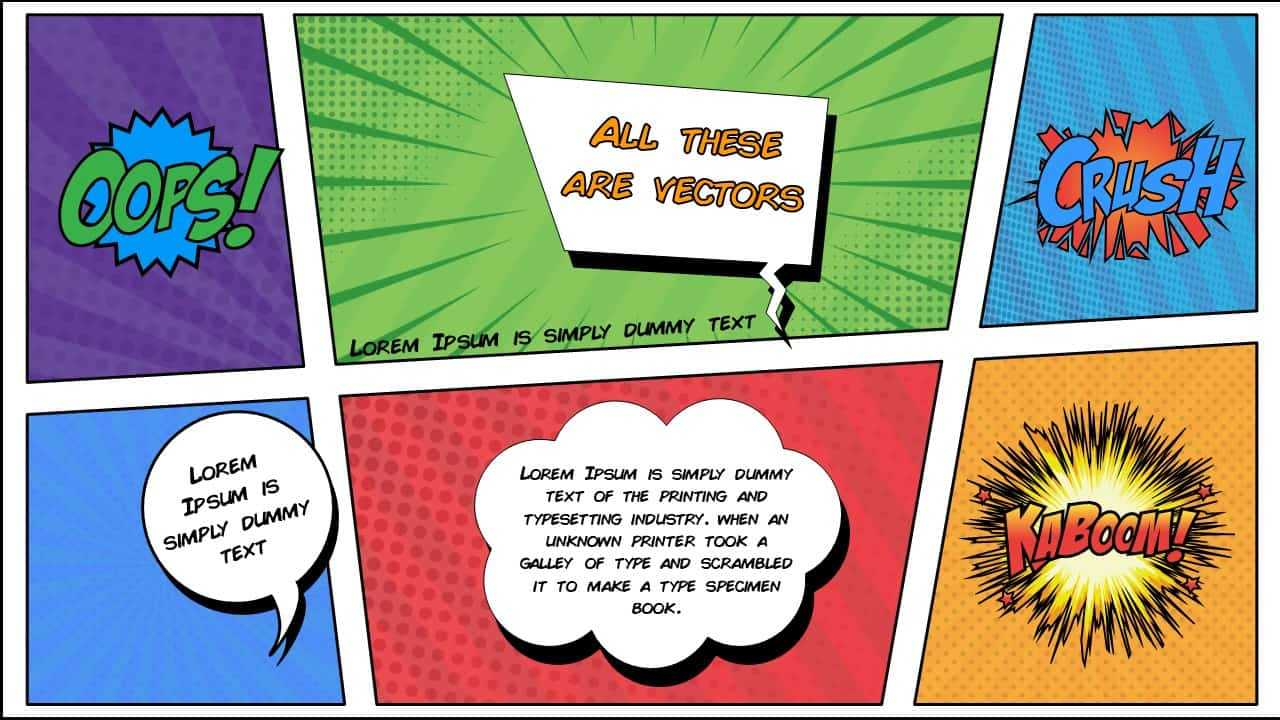 Free Comic Book Powerpoint Template For Download | Slidebazaar With Regard To Powerpoint Comic Template