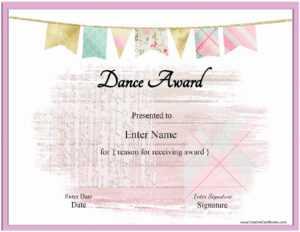 Free Dance Certificate Template – Customizable And Printable inside Dance Certificate Template