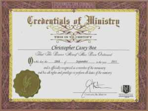 Free Deacon Ordination Certificate Template New Minister inside Free Ordination Certificate Template