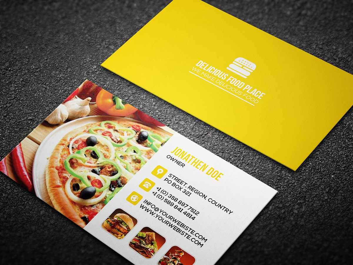 Free Delicious Food Business Card On Behance For Food Business Cards Templates Free