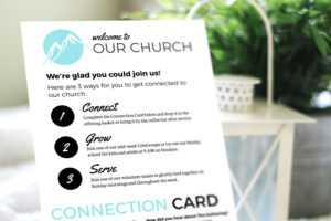 Free Design Template: Connection Card – Churchly intended for Church Visitor Card Template Word