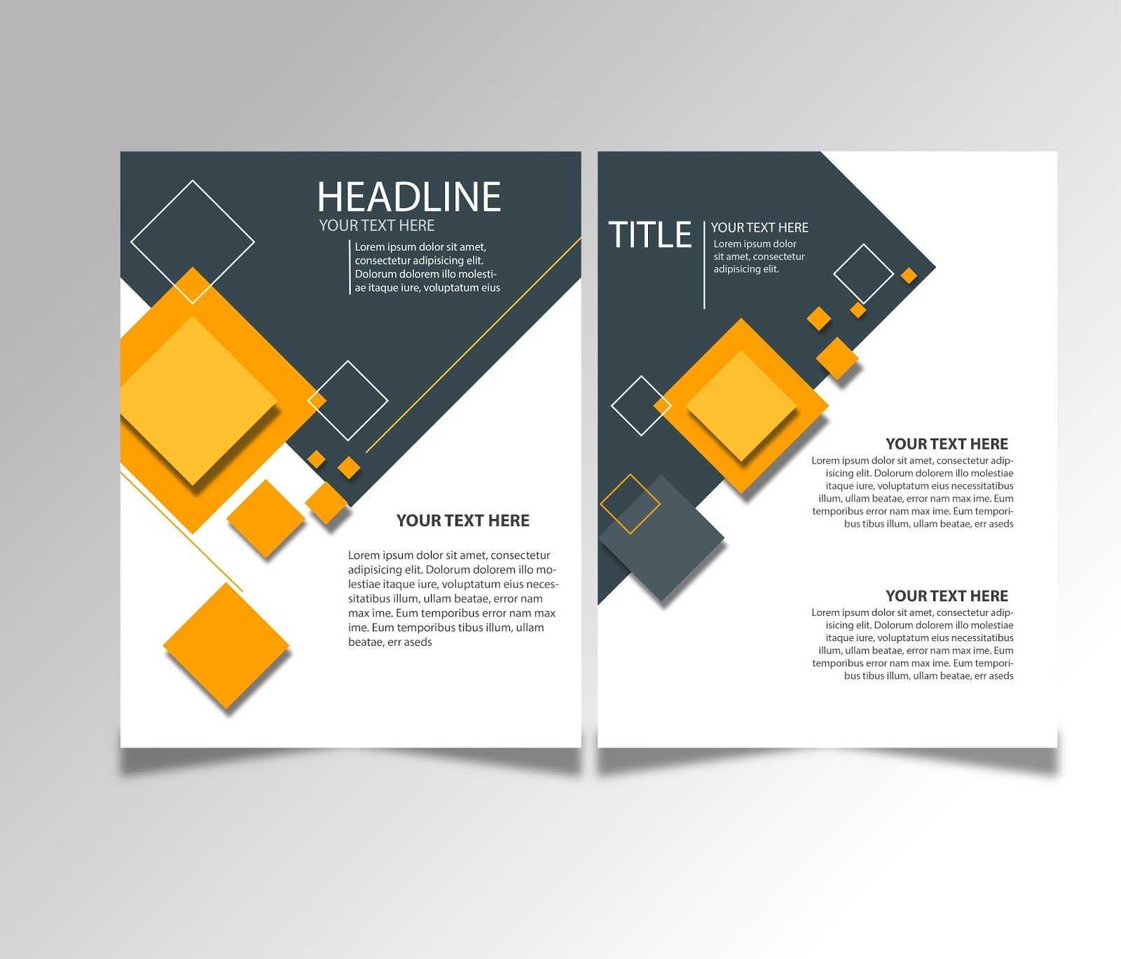 Free Download Brochure Design Templates Ai Files - Ideosprocess Inside Brochure Template Illustrator Free Download
