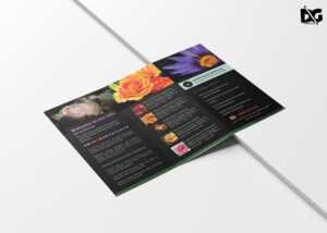 Free Download Psd Flower Shop Brochure Templates   Free Psd with Pop Up Brochure Template