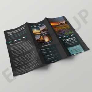Free Download Tourism Tri-Fold Brochure Template | Psd pertaining to 3 Fold Brochure Template Psd Free Download