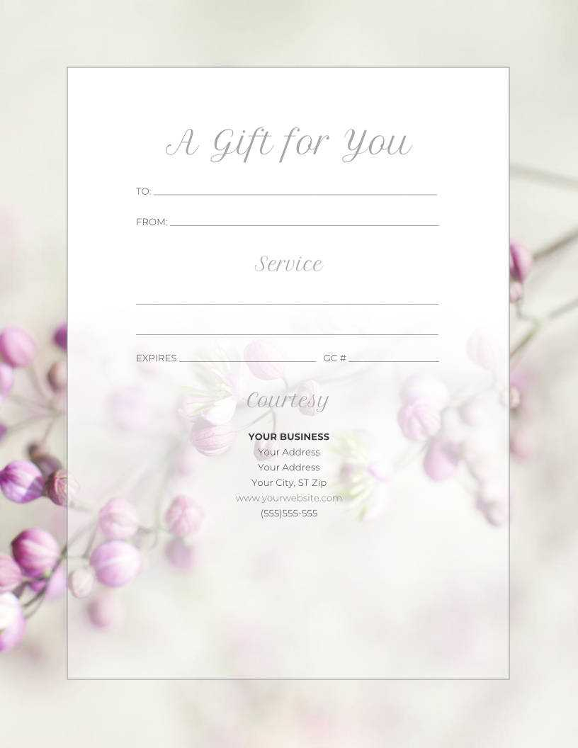 Free Gift Certificate Templates For Massage And Spa In Spa Day Gift Certificate Template