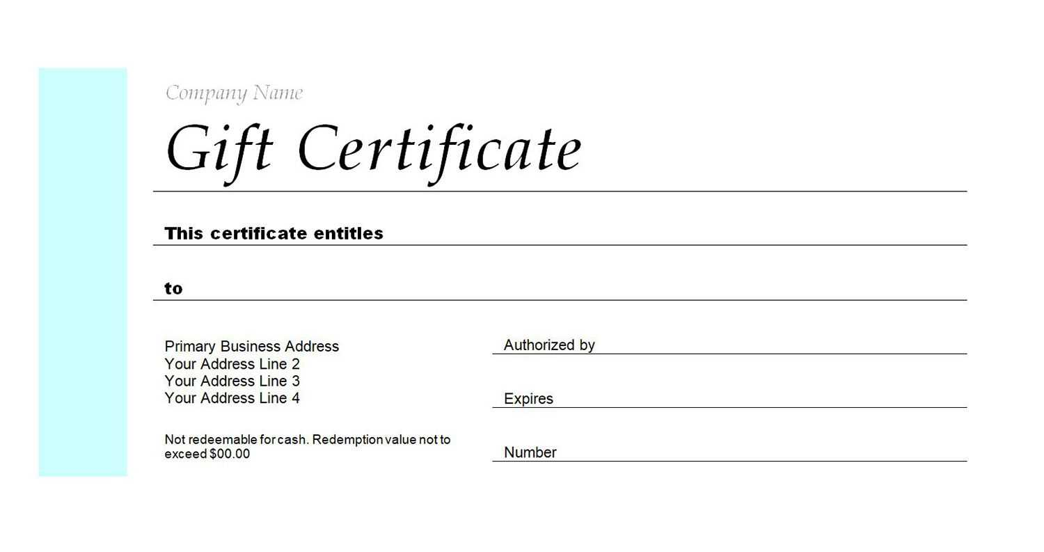 Free Gift Certificate Templates You Can Customize In Company Gift Certificate Template