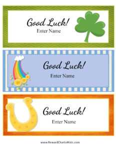 Free Good Luck Cards For Kids | Customize Online & Print At Home throughout Good Luck Card Templates