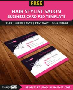 Free Hair Stylist Salon Business Card Template Psd On Behance with Hair Salon Business Card Template