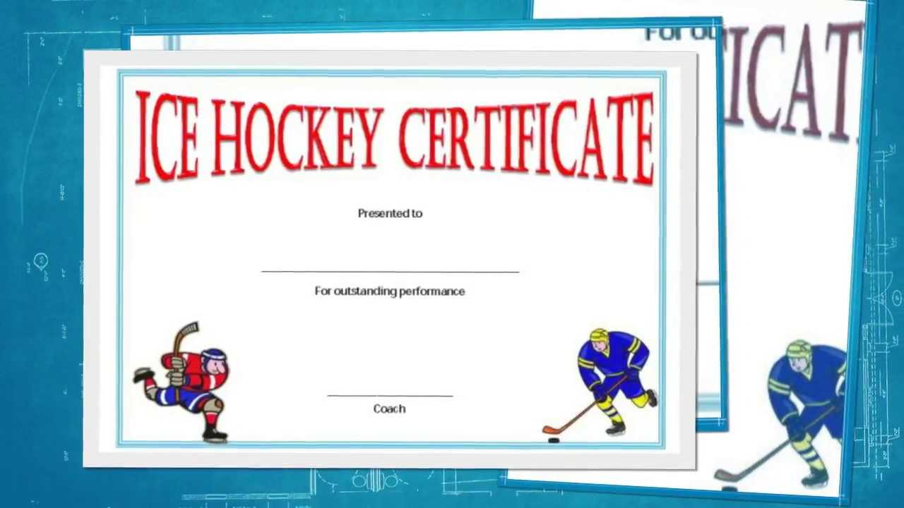 Free Hockey Certificate Templates For Download - Youtube With Hockey Certificate Templates