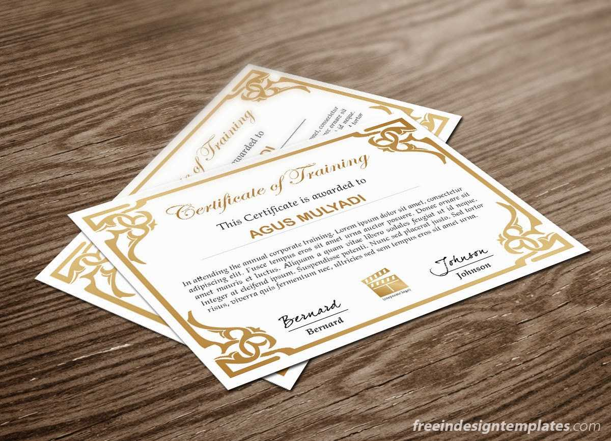 Free Indesign Certificate Template #1   Free Indesign Pertaining To Indesign Certificate Template