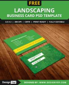 Free Landscaping Business Card Template Psd – Designyep in Gardening Business Cards Templates