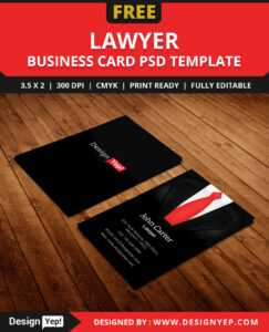 Free Lawyer Business Card Template Psd – Designyep pertaining to Legal Business Cards Templates Free