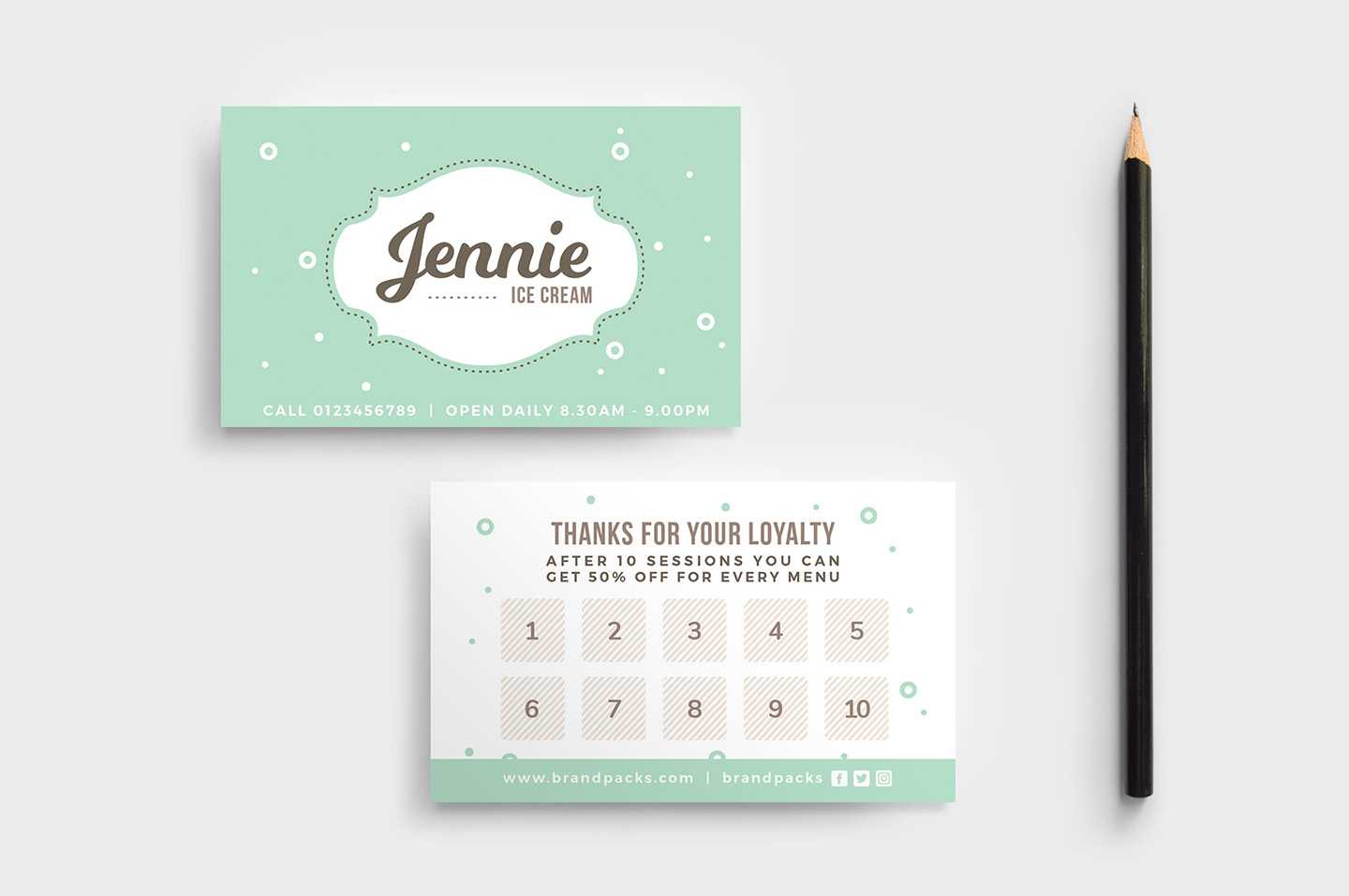 Free Loyalty Card Templates - Psd, Ai & Vector - Brandpacks With Business Punch Card Template Free