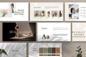 Free Merylin Brand Guidelines Powerpoint Template pertaining to Fancy Powerpoint Templates