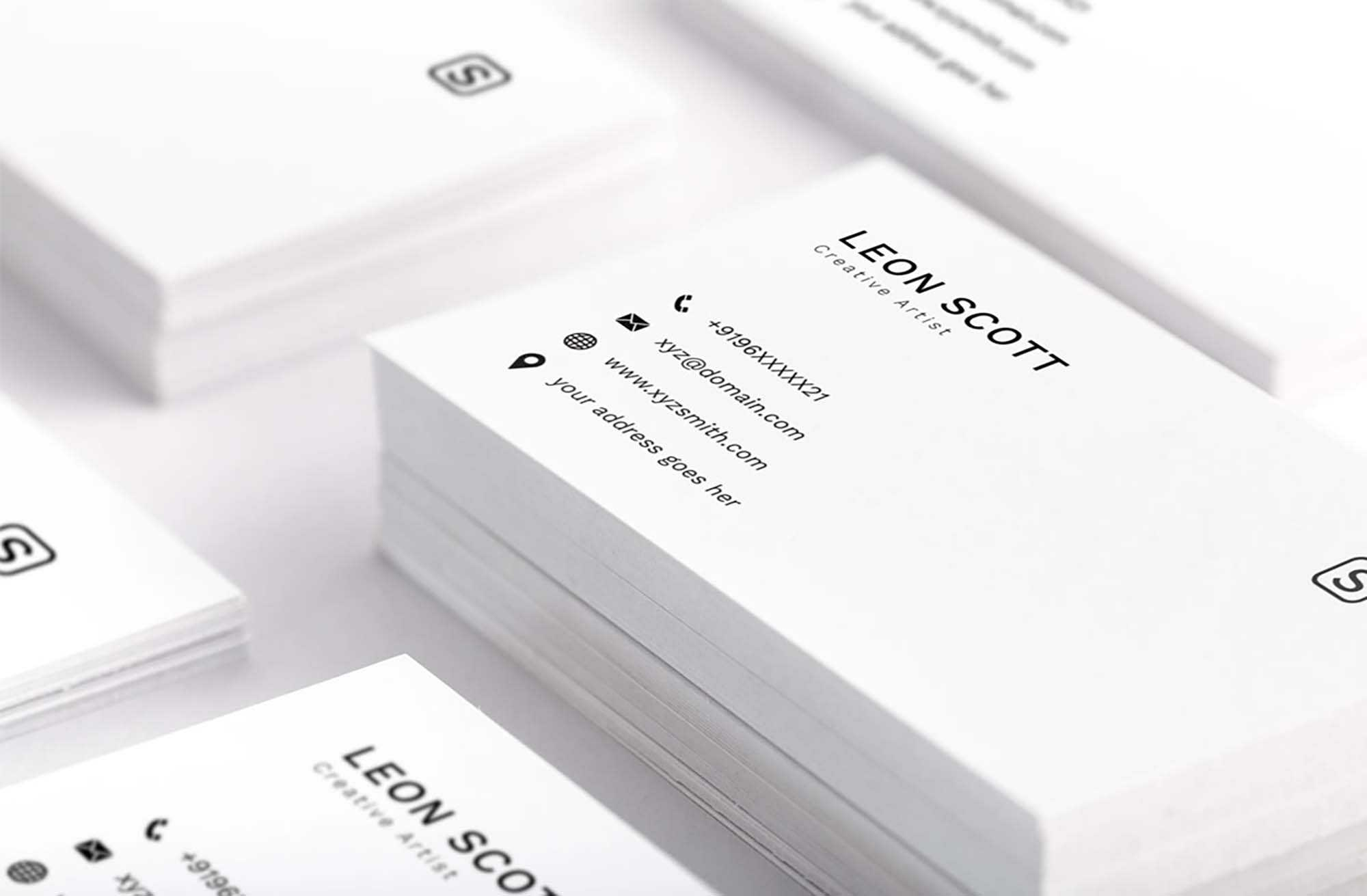 Free Minimal Elegant Business Card Template (Psd) Inside Photoshop Name Card Template