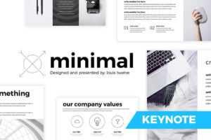 Free Minimal Keynote Template – Createdlouistwelve with regard to Keynote Brochure Template