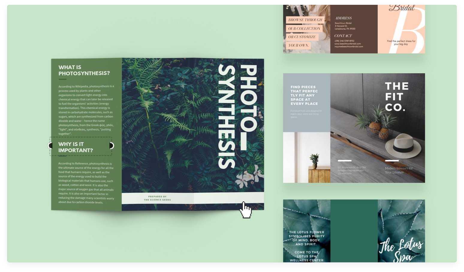 Free Online Brochure Maker: Design A Custom Brochure In Canva Pertaining To Online Free Brochure Design Templates