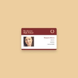 Free Online Id Maker: Design A Custom Id In Canva in High School Id Card Template