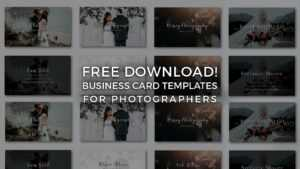 Free Photographer Business Card Templates! – Signature Edits with regard to Free Business Card Templates For Photographers
