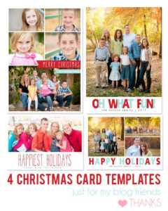 Free Photoshop Holiday Card Templates From Mom And Camera for Holiday Card Templates For Photographers