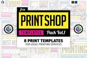 Free Print Shop Templates For Local Printing Services for Free Templates For Cards Print