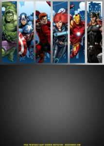 Free Printable) – Avengers Birthday Invitation Templates inside Avengers Birthday Card Template