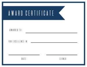 Free Printable Award Certificate Template – Paper Trail Design in Free Printable Blank Award Certificate Templates