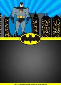 Free Printable) – Batman Birthday Party Invitation Templates with Batman Birthday Card Template